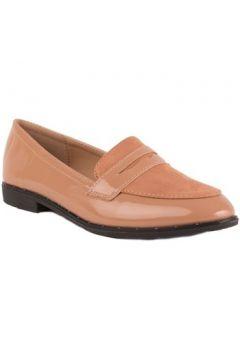 Chaussures Primtex Mocassins vernis noir bi-matière à bouts pointus et suédine(115466496)