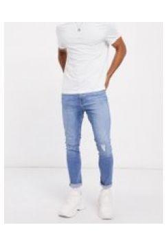 Bershka - Jeans super skinny blu medio con abrasioni(120251403)
