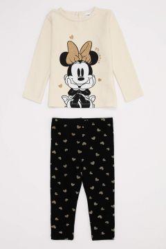 DeFacto Kız Bebek Çocuk Minine Mouse Lisanslı Alt ve Üst Takım(125925706)