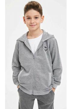 DeFacto Erkek Çocuk Kapüşonlu Basic Sweatshirt(108640171)
