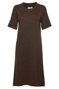 Amy Knitted Dress Kleid Knielang Braun LEXINGTON CLOTHING(114163212)