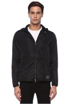Valentino Erkek Siyah Kapüşonlu Logolu Mont 46 IT(118330391)