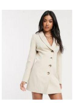 4th Reckless - Vestito stile blazer asimmetrico color naturale-Rosa(120329025)