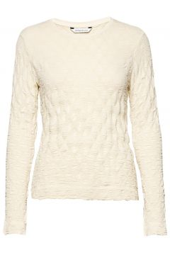 Skarn Diamond Top Langärmliges T-Shirt Creme HOLZWEILER(109200543)