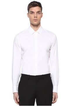 Prada Erkek Beyaz İngiliz Yaka Gömlek 40 IT(109265115)
