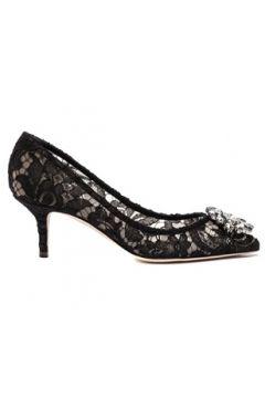 Dolce&Gabbana Kadın Taormina Siyah Dantelli Stiletto 36 EU(127153304)