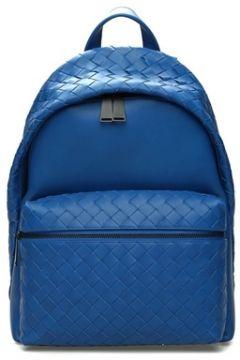 Bottega Veneta Erkek Mavi Örgü Dokulu Deri Sırt Çantası EU(107373236)