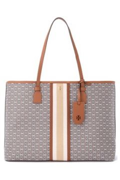 Cabas Tory Burch Borsa a spalla Gemini Link in canvas color cuoio(115666100)