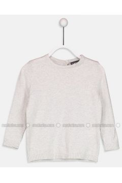 Ecru - Crew neck - Age 8-12 Top Wear - LC WAIKIKI(110342230)