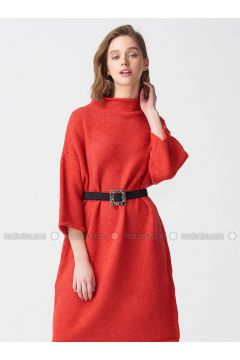 Coral - Polo neck - Unlined -- Dresses - Dilvin(110327540)