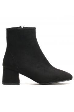 Ayakkabı Modası Siyah Süet Kadın Bot(110929329)