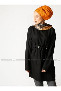 Black - Crew neck - Tunic - Meryem Acar(110330053)