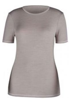 Funktions-Shirt mit Wolle, kurzarm Skiny taupe melange(111493783)