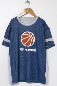 Hummel Baskılı Mavi T-Shirt(122709465)