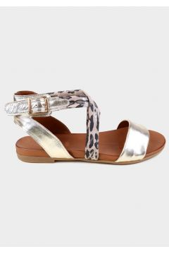 KAMMI Gold Hakiki Deri Kadın Comfort Sandalet(118221756)