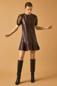 Koton Kadın Suni Deri Görünümlü Elbise(113405744)