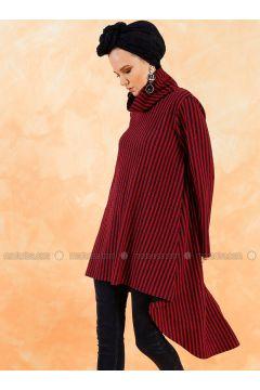 Polo neck - Stripe - Maroon - Sweat-shirt - Muni Muni(110330534)