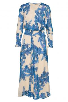 Dress W. Smock Details Kleid Knielang Blau COSTER COPENHAGEN(114163981)