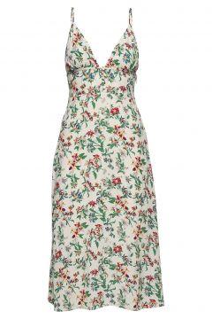Tjw Summer V-Neck Strap Dress Kleid Knielang Creme TOMMY JEANS(115807507)