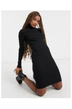 Dr Denim - Elly - Vestito accollato a maniche lunghe nero(121793466)