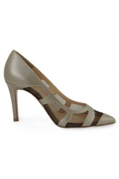 Vario Kadın Kahverengi File Detaylı Sedefli Topuklu Ayakkabı 2058 R7244(124470878)