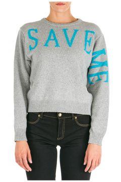 Women's jumper sweater crew neck round save me(118071810)
