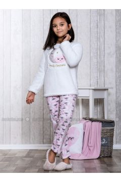 Pink - Crew neck - Multi - Kids Pijamas - Lingabooms(110313109)