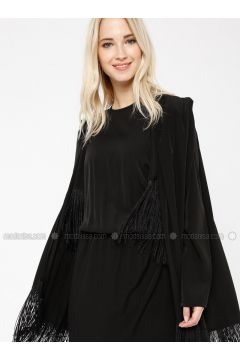Black - Crew neck - Unlined - Dresses - Minimal Moda(110331225)