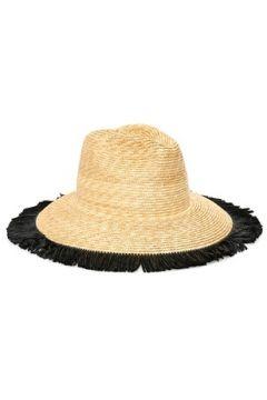 Helene Berman London Kadın Bej Siyah Püskül Detaylı Hasır Şapka EU(114438714)