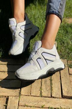 İnan Ayakkabı Beyaz Cilt Kadın Sneaker(116842993)