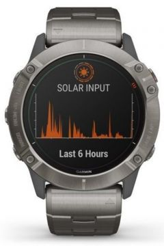 Garmin Fenix 6x Pro Solar Titanyum Multispor Gps Akıllı Saat(108934112)