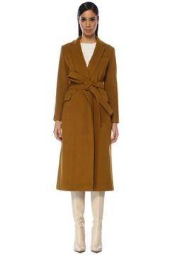 Beymen Club Kadın Hardal Beli Kuşaklı Klasik Yün Palto Sarı 40(109109704)