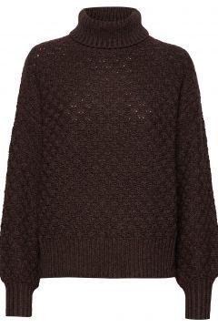 Greger Sweater Stg Rollkragenpullover Poloshirt Braun IBEN(114152174)
