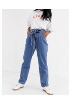 Abrand - Miami - Jeans affusolati con cintura-Blu(122748378)