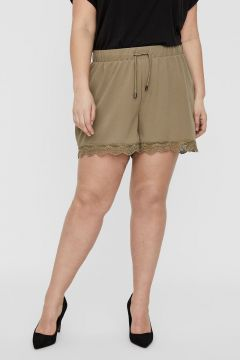 JUNAROSE Normal Waist Spitzen Shorts Damen Grün(110709897)