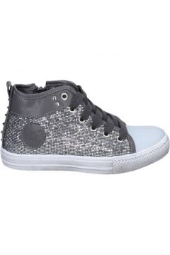 Chaussures enfant Solo Soprani fille sneakers gris glitter cuir synthétique BS37(115443326)