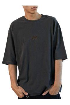 Afends Distressed Oversized Kurzarm-T-Shirt - Stone Black(114064983)