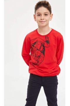 DeFacto Erkek Çocuk Spiderman Lisanslı Baskılı Sweatshirt(125917296)