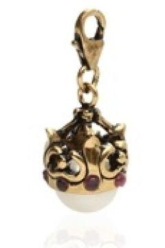 Alcozer & J Kadın Gold İncili Taş Detaylı Kolye Ucu Altın Rengi EU(125183285)