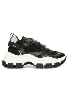 Prada Sport Erkek Pegasus Siyah Kalın Tabanlı Sneaker 8 UK(115893791)
