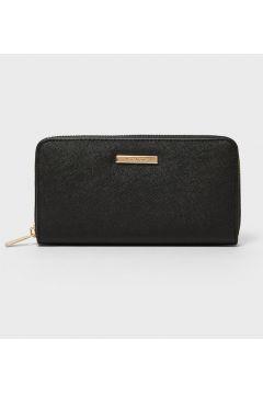 Brieftasche mit Reißverschluss Schwarz(113908257)