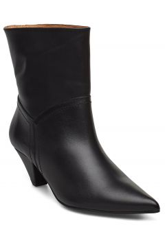 Selena Leather Black Shoes Boots Ankle Boots Ankle Boots With Heel Schwarz HENRY KOLE(114159965)