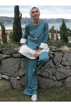 Green - Unlined - Suit - Al Tatari(110317411)