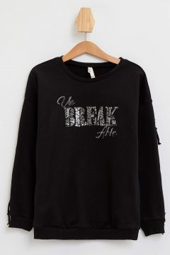 DeFacto Kız Çocuk Payet Baskılı Sweatshirt(125919967)