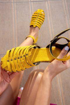 Sandale Fox Shoes Jaune(125456644)