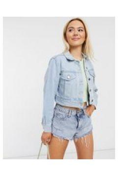 Miss Selfridge - Giacca di jeans blu lavaggio chiaro(120615681)