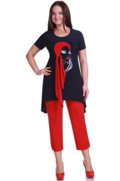 Комплект с капри Andrea Style 1111 синий с красным(115246809)