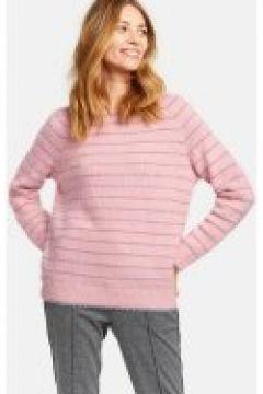 Miękki sweter w błyszczące paski Różowy XXS(115901739)