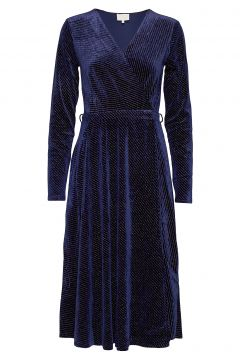 Lizzie Dress Boozt Kleid Knielang Blau MINUS(114164205)