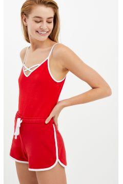 Rotes Top mit Criss Cross(113606383)